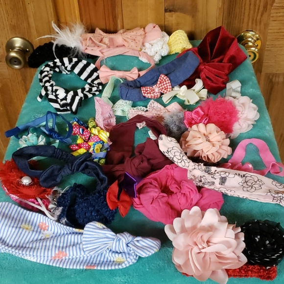 Baby girl Headwrap bow lot